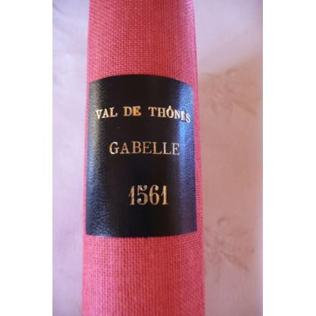 Cahier n°2 - La gabelle de 1561 du grenier à sel de Thônes